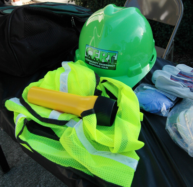 Protective helmet and other CERT equipment