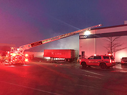 Recycling Warehouse Fire