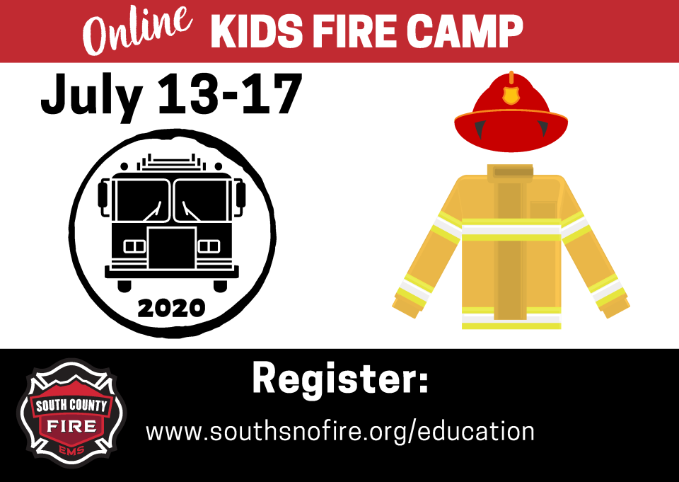 Online Kids Fire Camp July 13-17