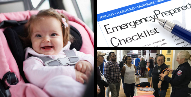 child car seat safety, ACT first aid, disaster preparedness, free online classes